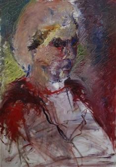 Mali Lasker - Portrait Oil on Canvas, Paintings