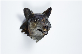 Lida Boonstra - Wolf Unicum in Steel, Sculpture