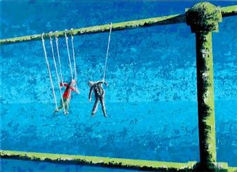 Frank M. Alba - Helpless Love Acrylic on Canvas, Paintings