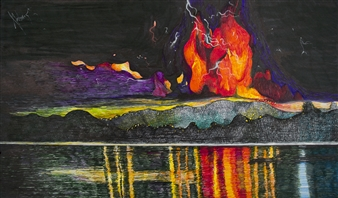 Mariana Lino - Calbuco Marker on Canvas, Drawings