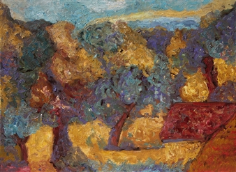 Isabella S. Minichmair - Old Orchard Oil on Canvas, Paintings