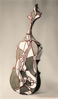 Heesu Choi - Wild Sound-C Acrylic on Sewing Jute, Sculpture