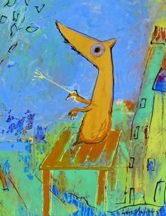 Lars Aukrust - Arthur the Director Acrylic on Canvas, Paintings