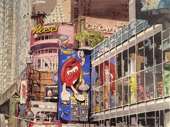 Duane Anderson - Hershey's NYC Watercolor on Paper, Paintings