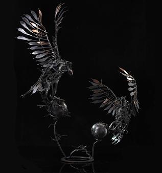 Banjerd Lekkong - Different Time, Different Period Iron, Sculpture
