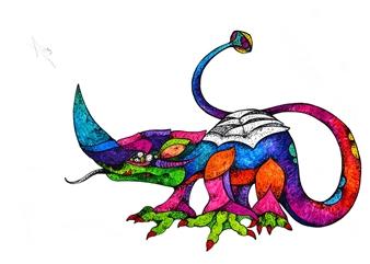 Mariana Lino - Rhino Marker on Canvas, Drawings