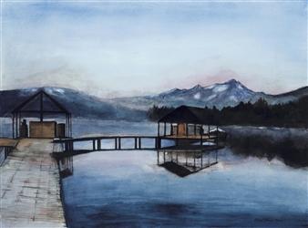 Nancy Holleran - Redfish Lake Misty Morning Giclee Print, Prints