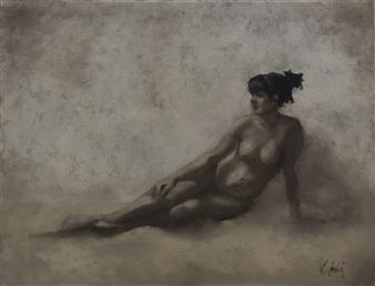 Linda Leslie - Nude Study Oil on Canvas, Paintings