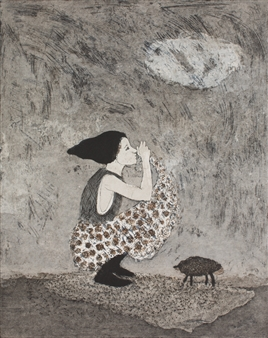 Kirsi Neuvonen - Kapylehma (Cone Cow) Etching on Paper, Prints