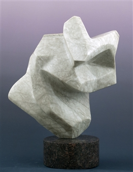 Joel Shapses - Angularity Alabaster, Sculpture