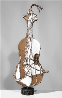 Heesu Choi - Wild Sound-A Acrylic on Sewing Jute, Sculpture