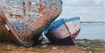 Josie Mengai - Old Boats Digital Print on Aluminum, Prints