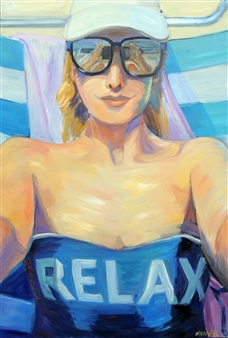 Nomi Knecht - Relax Oil on Canvas, Paintings