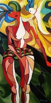 Falcan Iulia-Lavinia - Coco Acrylic on Canvas, Paintings
