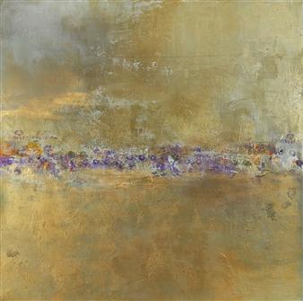 Lois Gold - Bronze Reflections Mixed Media on Canvas, Mixed Media