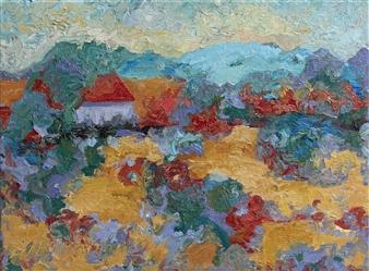 Isabella S. Minichmair - Summer Haze Oil on Canvas, Paintings
