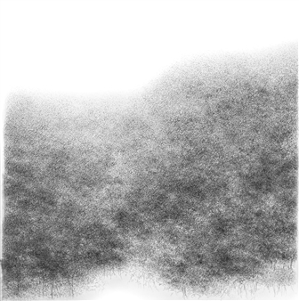 Michelin Basso - Untitled 15 Graphite on Canvas, Drawings