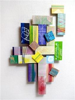 Yoshiko Kanai - 102 Acrylic & Thread on Wood, Mixed Media