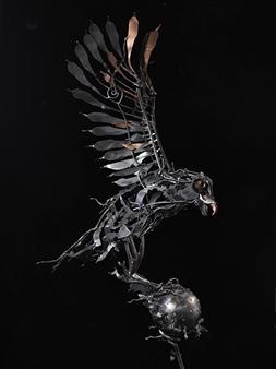 Banjerd Lekkong - View 5 - Different Time, Different Period Iron, Sculpture