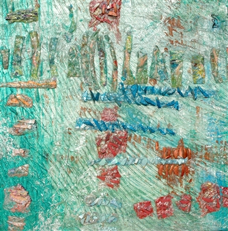 Trent Altman - A Sea Side Whimsy Acrylic & Mixed Media on Canvas, Mixed Media