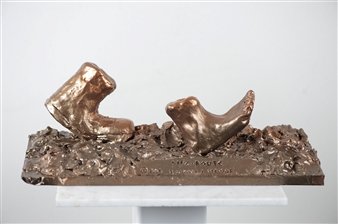 Loukas Tsevdos - Life Route Bronze, Sculpture