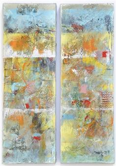 Kerstin Lundin - 1 Plus 1 Oil & Mixed Media on Canvas, Mixed Media