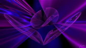 Stan Adard - Purple Wings Digital Breathing Picture, Digital Art
