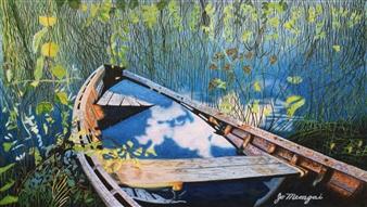 Josie Mengai - Boat Digital Print on Aluminum, Prints