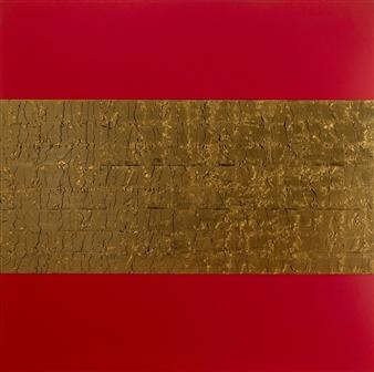David Stanley Hewett - Noble Acrylic & Gold Leaf on Canvas, Mixed Media
