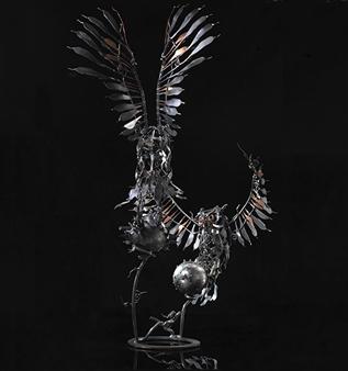 Banjerd Lekkong - View 4 - Different Time, Different Period Iron, Sculpture