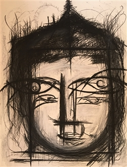 Lorena Becerra - And the Ego Thought He Did Not Want to Exist Charcoal on Paper, Drawings
