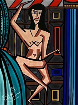 Edmonde Bizelli - La Donna Mobile Mixed Media on Plexiglass, Mixed Media