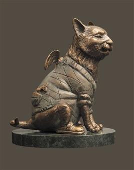 Anna Voloshko - Family Pet Bronze, Sculpture