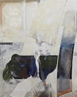 Pedro Alberti - Silent Game Acrylic & Mixed Media on Canvas, Mixed Media