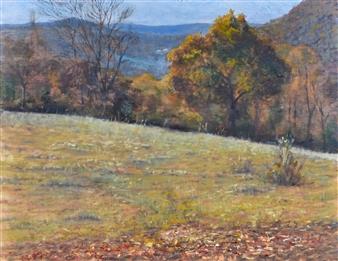 Robert Lenz - Ore Hill Oil on Panel, Paintings