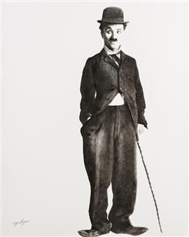 Yuliya Pogreb - Chaplin Dry Oil on Canvas, Paintings