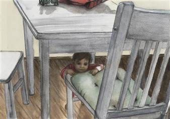 Nancy Holleran - Toddler Peek a Boo Giclee Print, Prints