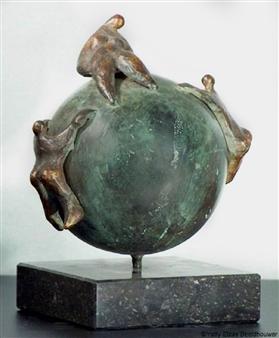 Yetty Elzas - Sex Makes The World Go Round Bronze, Sculpture