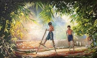 Cesar Alvarez - Grandes (Big) Oil on Canvas, Paintings