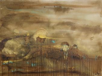 Fariba Baghi - No: 10 Mixed Media on Paper, Paintings