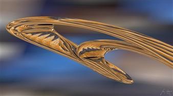 Stan Adard - Ocean Votive Digital Breathing Picture, Digital Art