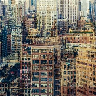 Florian Mueller - Multivision Manhattan XV Photograph on Plexiglass, Photography