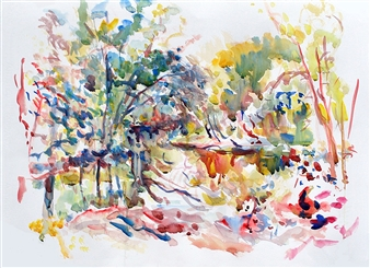 James Chisholm - Summer Heat Watercolor on Paper, Paintings