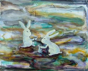 Kenji Inoue - Usagizake Oil on Canvas, Paintings