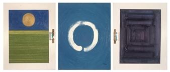 Mague Brewer - Nikolai Ogryskov's Dream (triptych) Oil & Mixed Media on Linen, Mixed Media