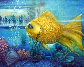 Zhenia Burnat - The Illusion Oil on Canvas, Paintings