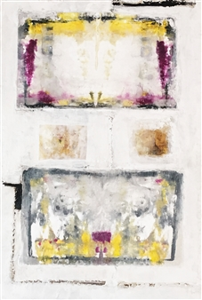 Lorena Becerra - Rorschach Test 1 Mixed Media on Canvas, Mixed Media