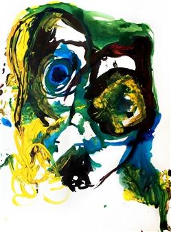 Alejandra Burguette - Circular Lips Acrylic & Gouache on Paper, Paintings