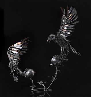 Banjerd Lekkong - View 2 - Different Time, Different Period Iron, Sculpture