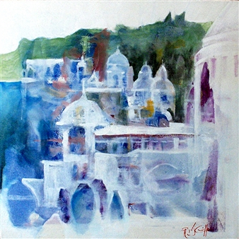 Roger DiCamillo - Bellagio Oil on Canvas, Paintings